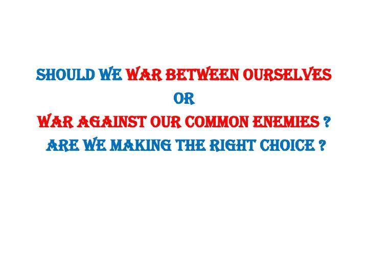 Should we