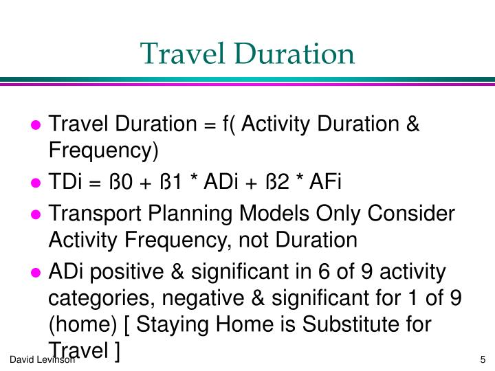 Travel Duration