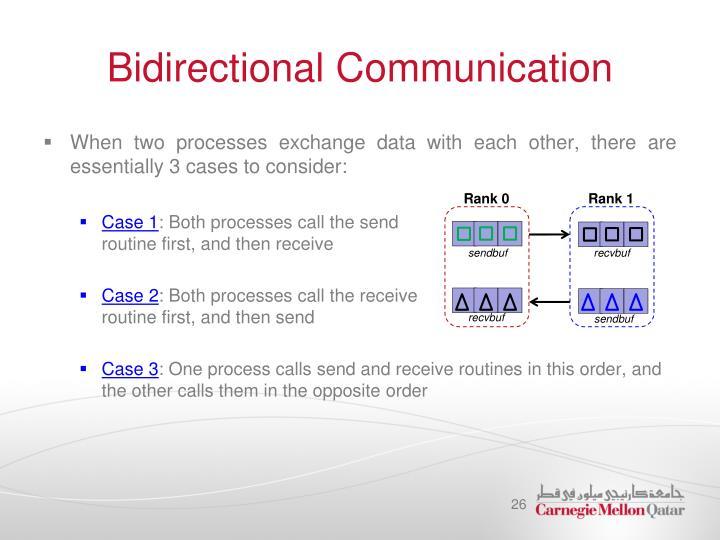 Bidirectional Communication