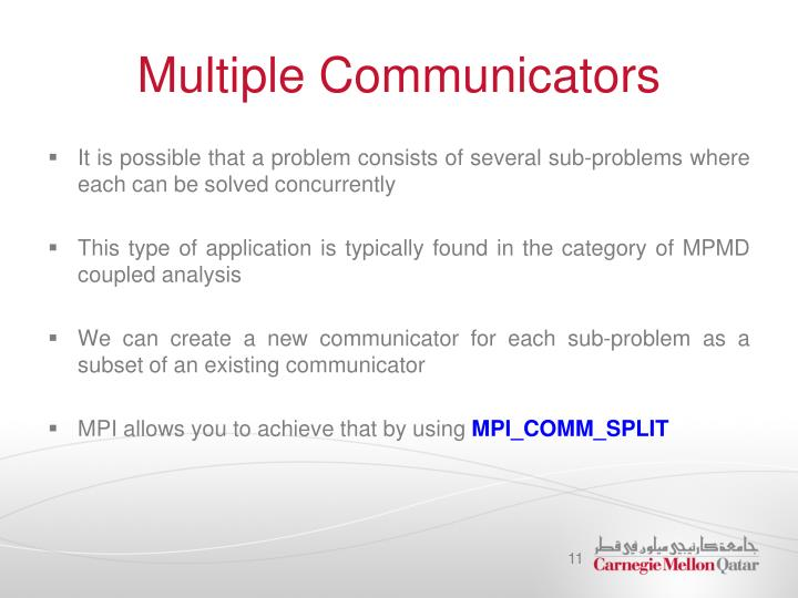 Multiple Communicators