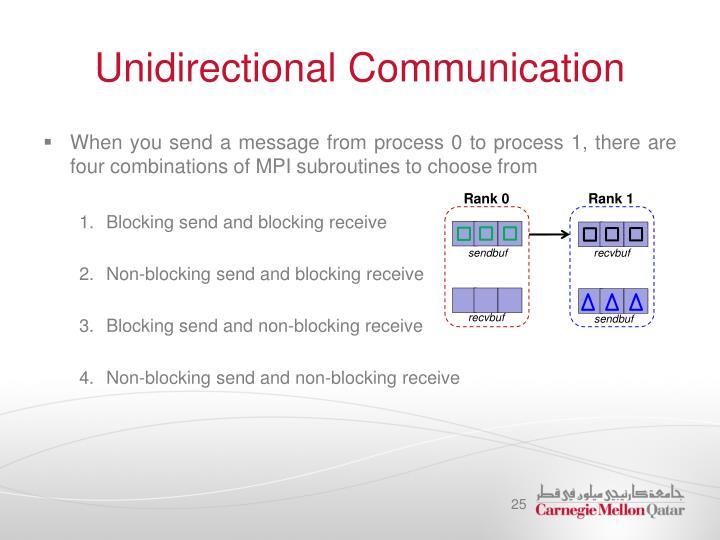 Unidirectional Communication