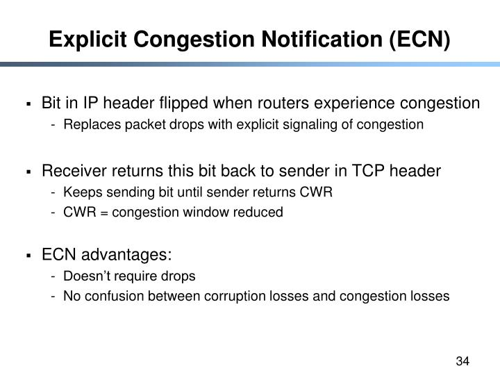 Explicit Congestion Notification (ECN)
