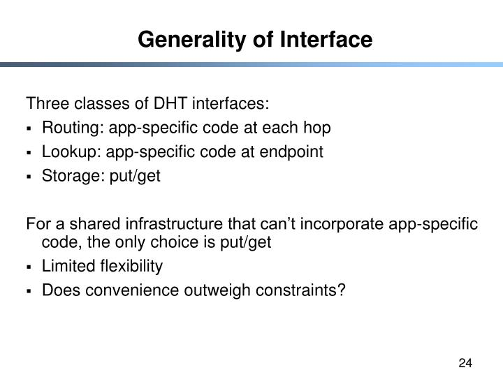 Generality of Interface