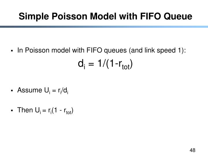 Simple Poisson Model with FIFO Queue