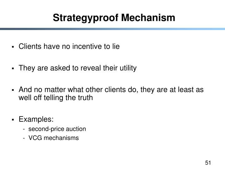 Strategyproof Mechanism