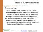 method icp dynamic model