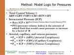 method model logic for pressures