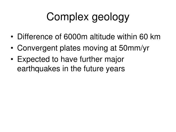 Complex geology