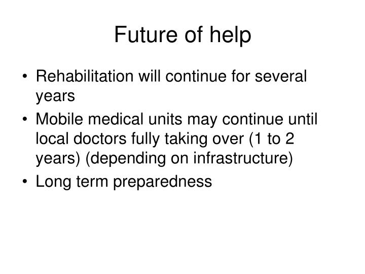Future of help