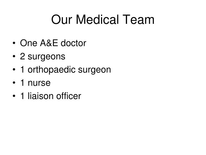 Our Medical Team
