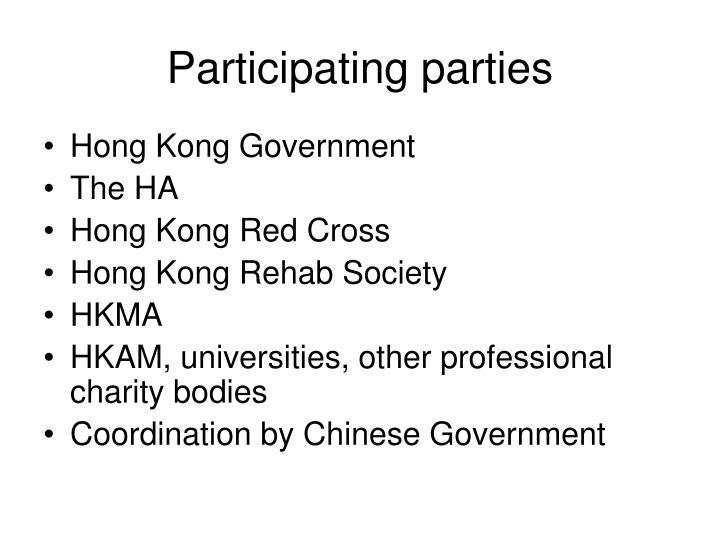 Participating parties