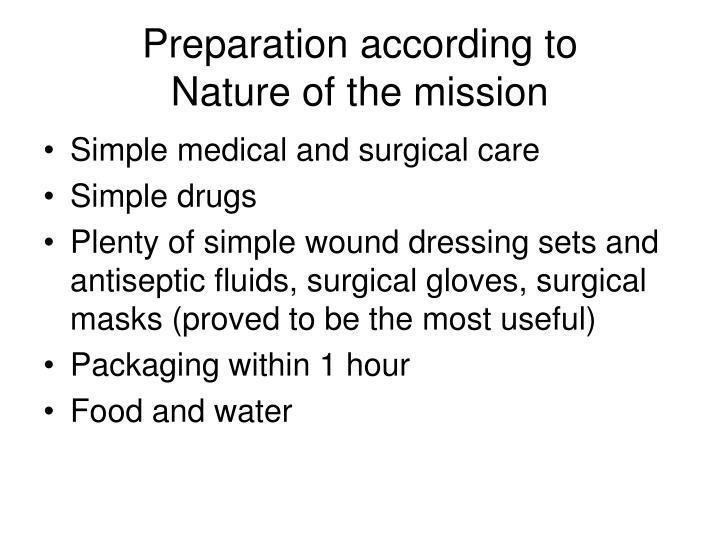 Preparation according to