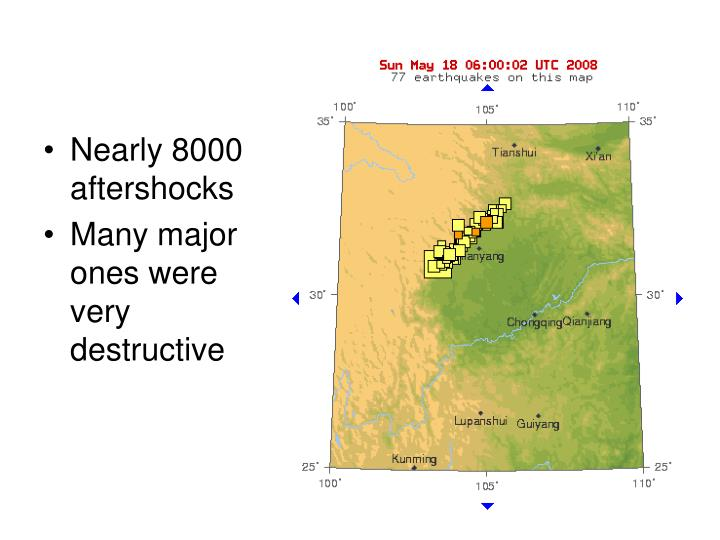 Nearly 8000 aftershocks
