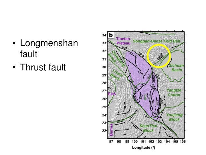 Longmenshan fault