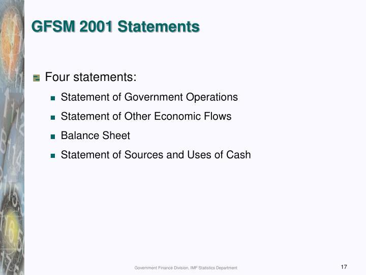 GFSM 2001 Statements