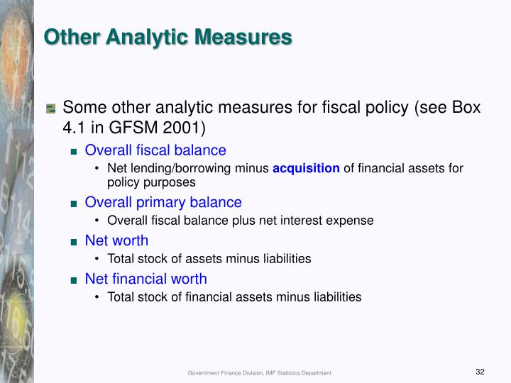 Other Analytic Measures