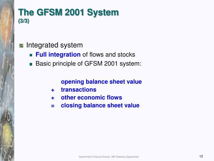 The GFSM 2001 System