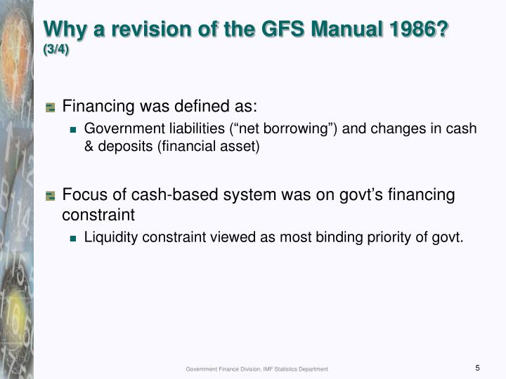 Why a revision of the GFS Manual 1986?