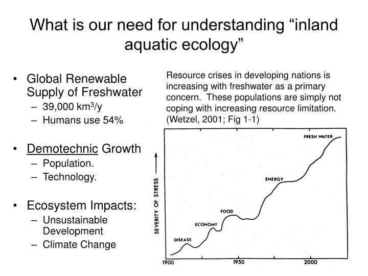 """What is our need for understanding """"inland aquatic ecology"""""""