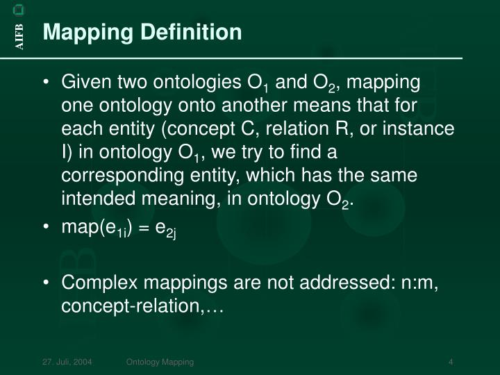 Mapping Definition