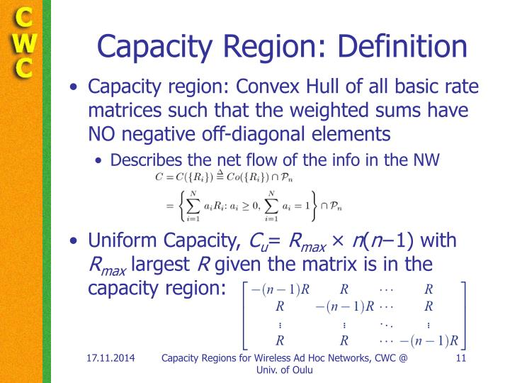 Capacity Region: Definition