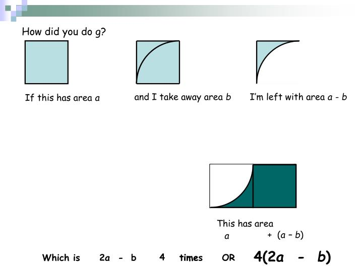 How did you do g?