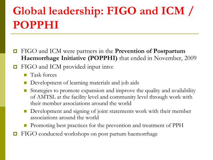Global leadership: FIGO and ICM / POPPHI