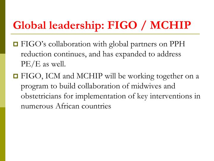 Global leadership: FIGO / MCHIP