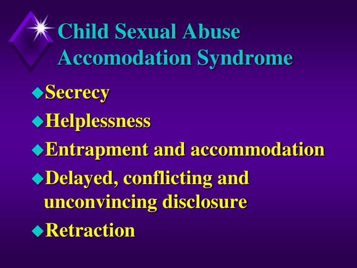 Child Sexual Abuse Accomodation Syndrome