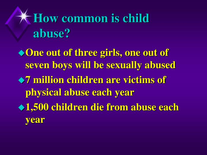 How common is child abuse?