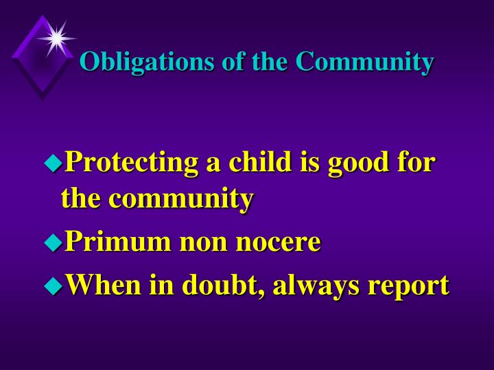 Obligations of the Community