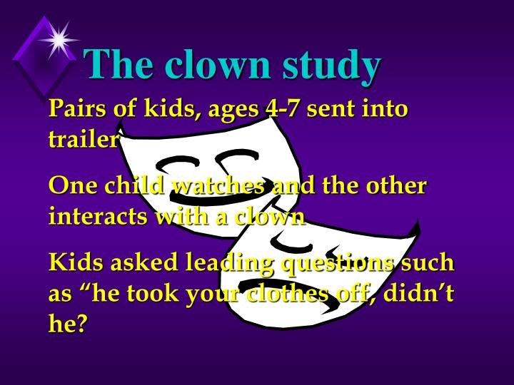 The clown study