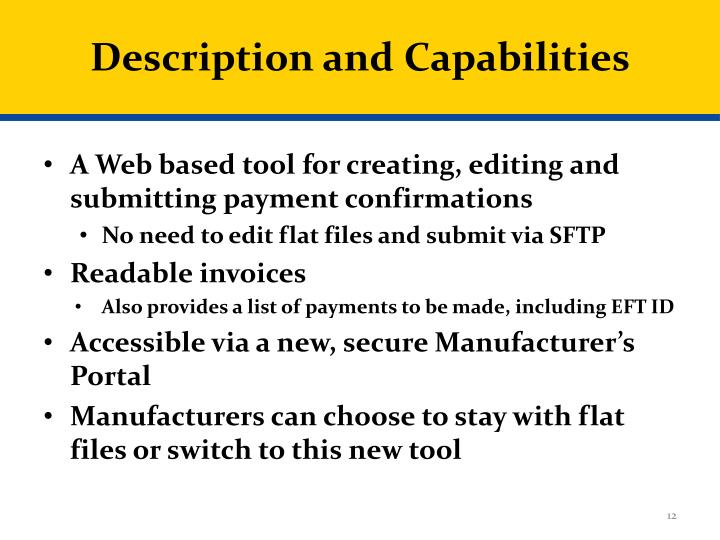 Description and Capabilities