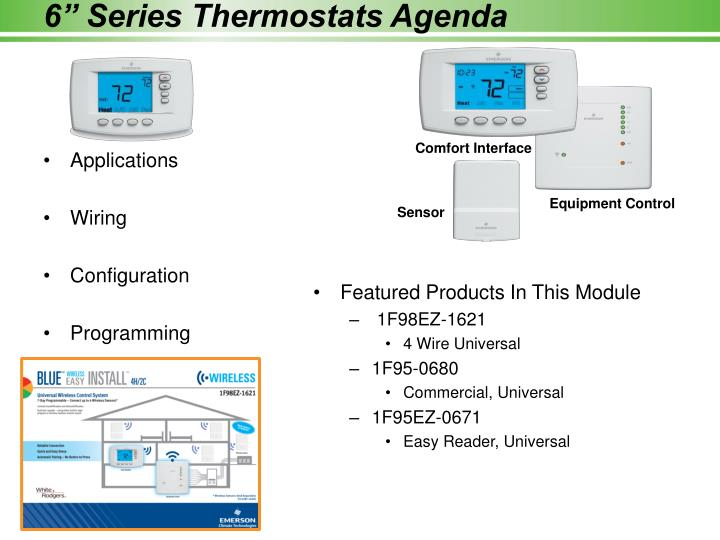 6 series thermostats agenda
