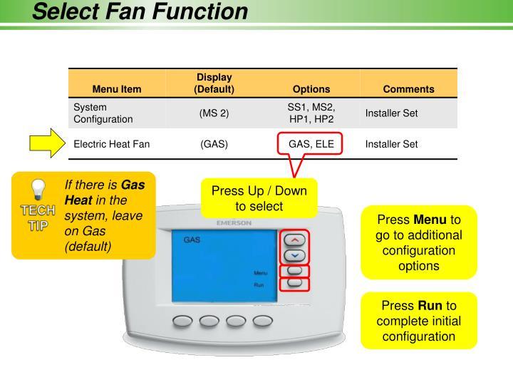 Select Fan Function
