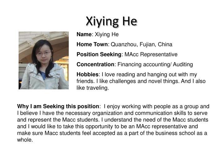 Xiying He