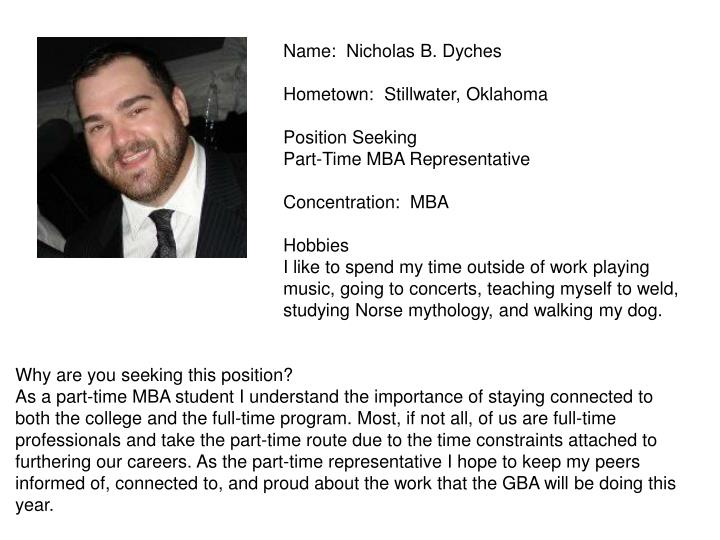 Name:  Nicholas B. Dyches