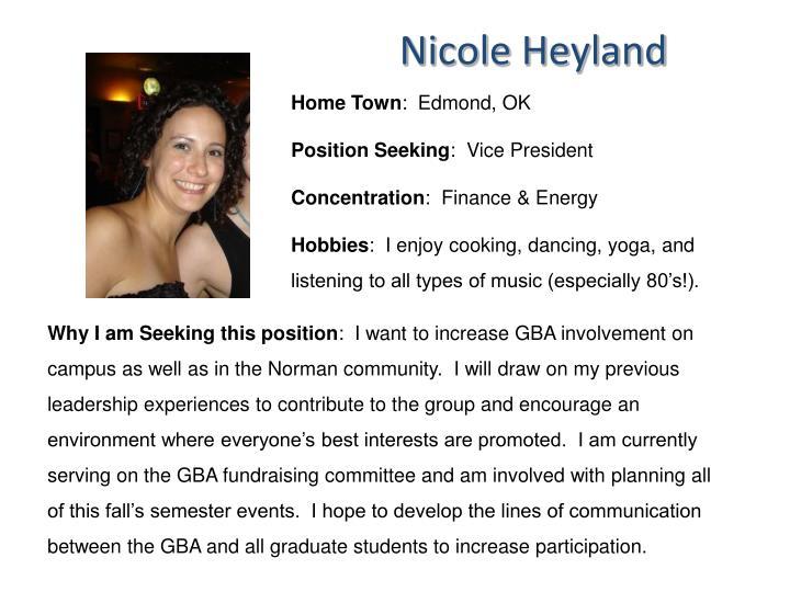 Nicole Heyland