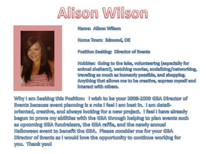 Alison Wilson
