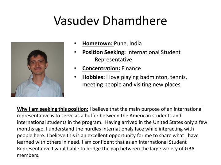 Vasudev Dhamdhere