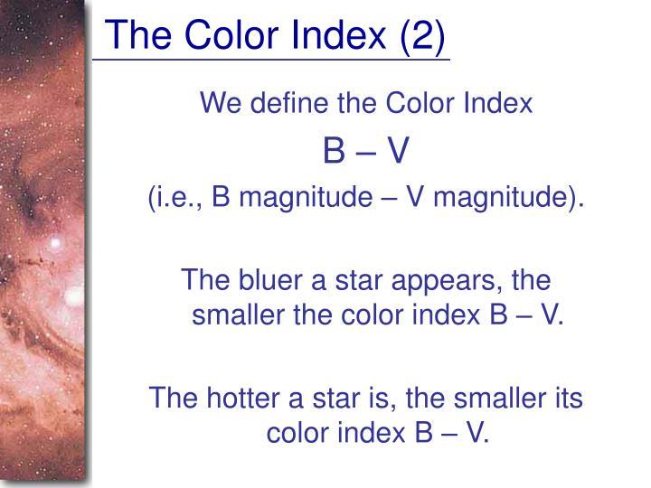 The Color Index (2)