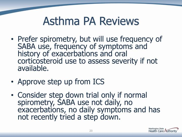 Asthma PA Reviews