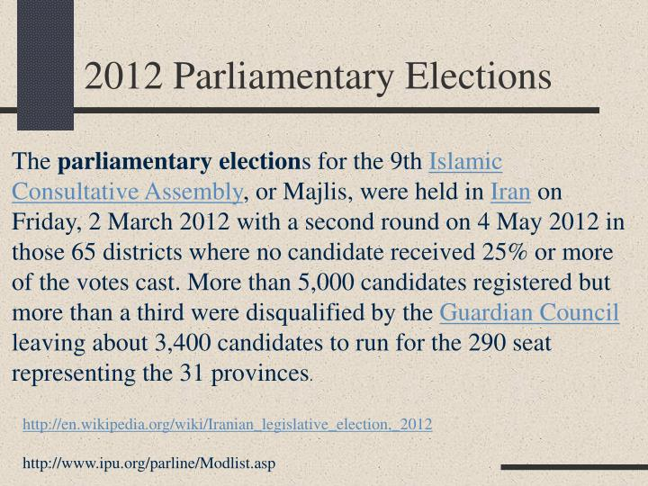 2012 Parliamentary Elections