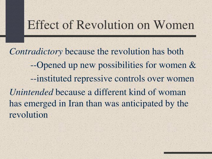 Effect of Revolution on Women