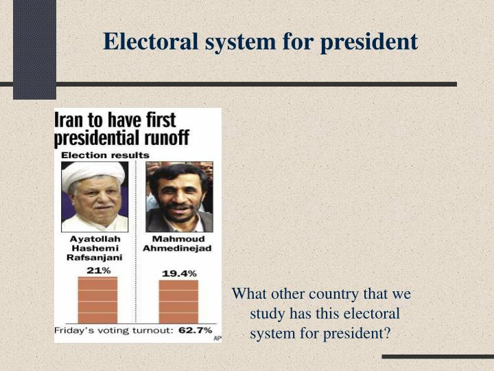 Electoral system for president