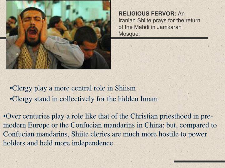 RELIGIOUS FERVOR: