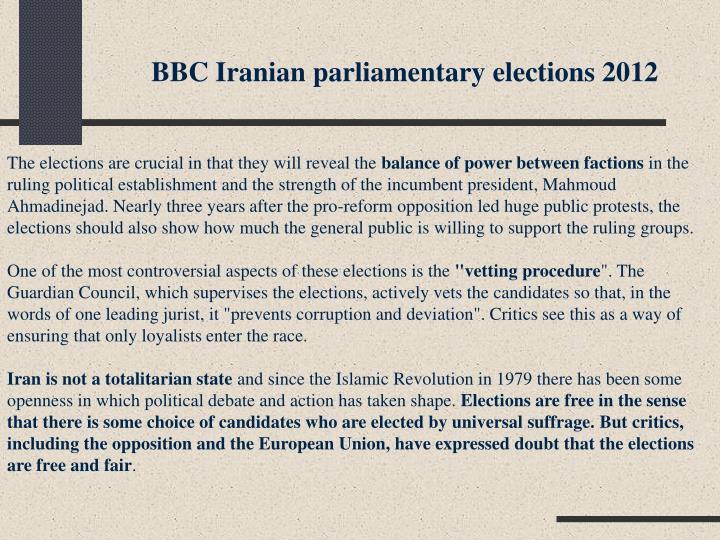BBC Iranian parliamentary