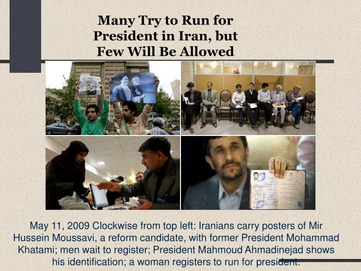 Many Try to Run for President in Iran, but Few Will Be Allowed