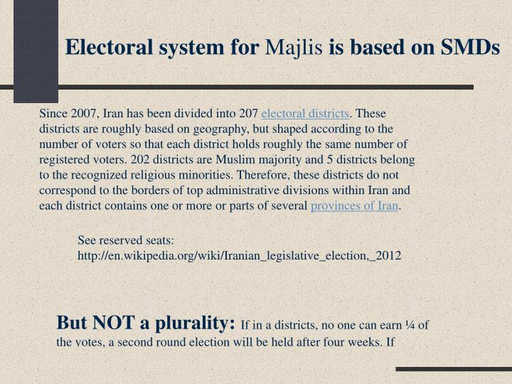 Electoral system for