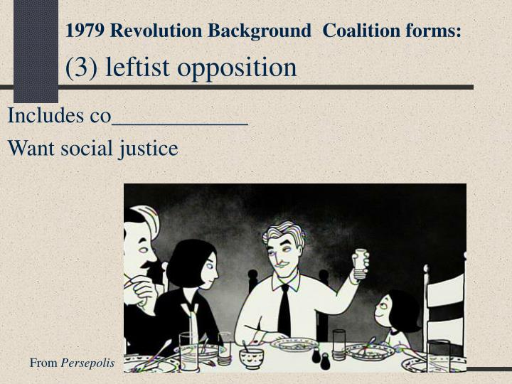 1979 Revolution Background  Coalition forms: